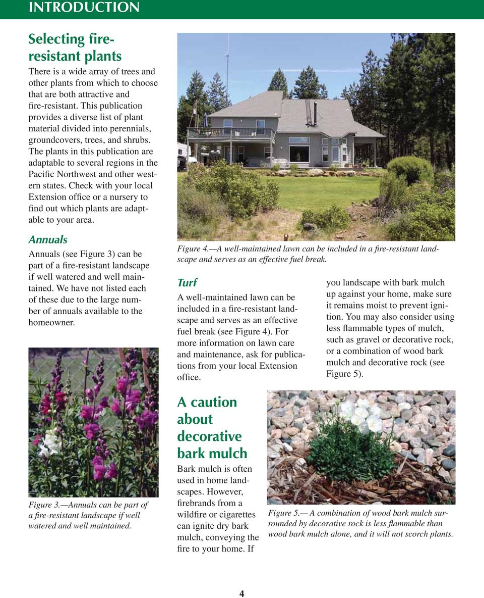 The plants in this publication are adaptable to several regions in the Pacific Northwest and other western states.