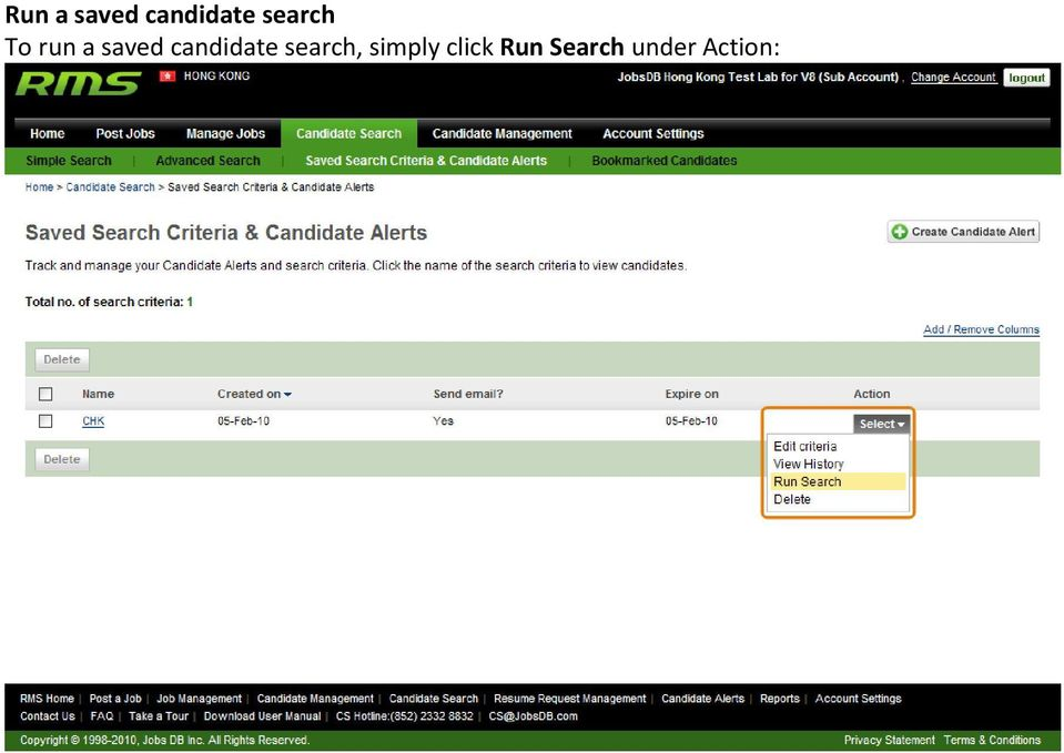 candidate search, simply