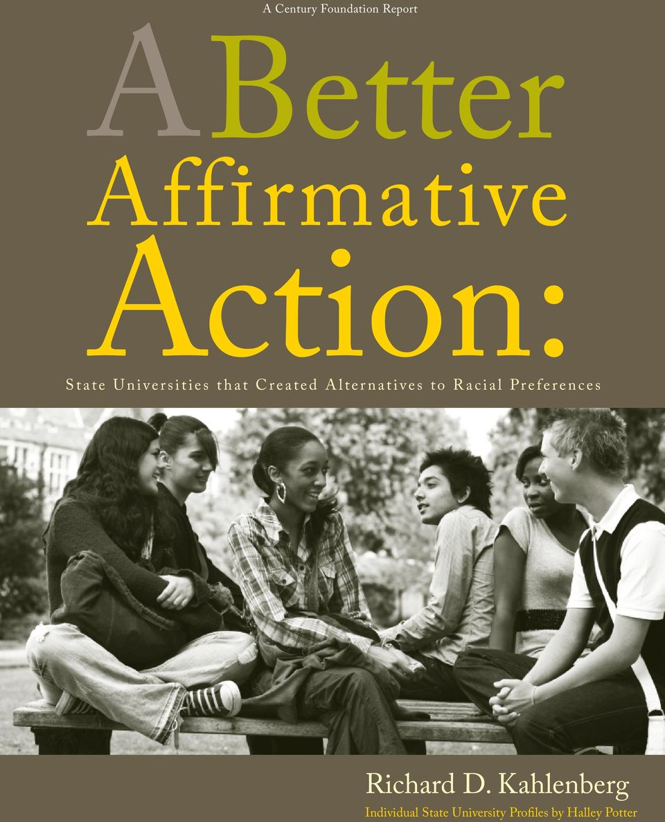 Alternatives to Racial Preferences Richard D.