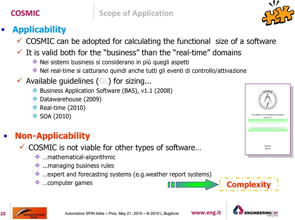 guidelines (GL) for sizing... Business Application Software (BAS), v1.