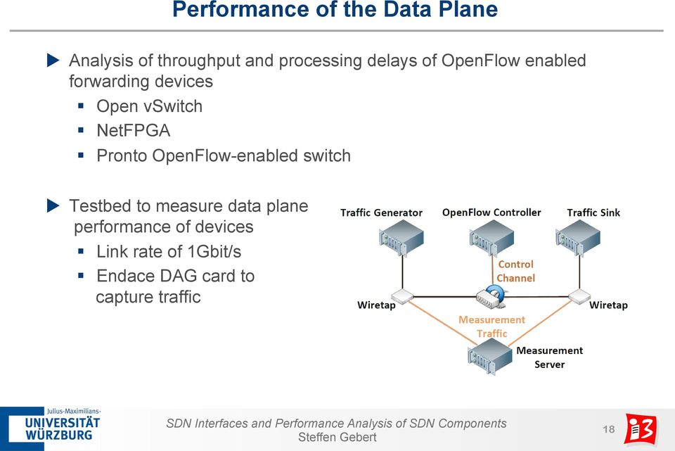 NetFPGA Pronto OpenFlow-enabled switch u Testbed to measure data