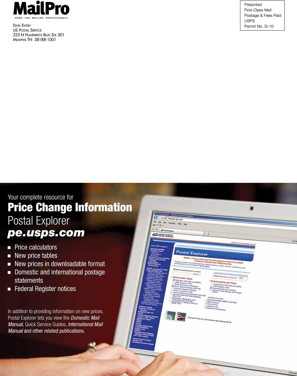 com Price calculators New price tables New prices in downloadable format Domestic and international postage statements