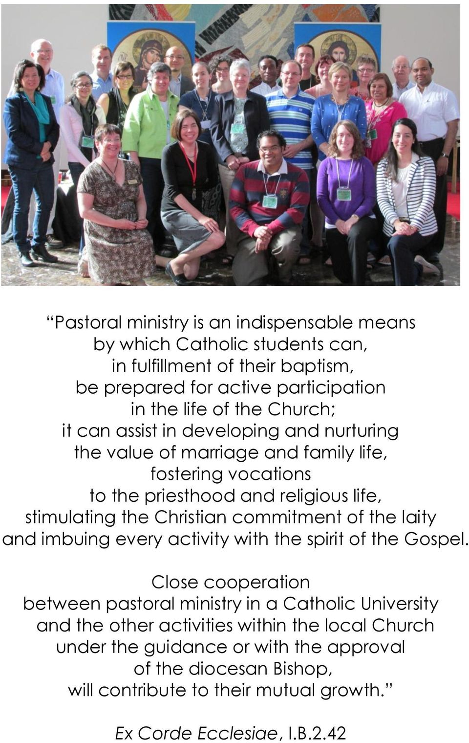 Christian commitment of the laity and imbuing every activity with the spirit of the Gospel.