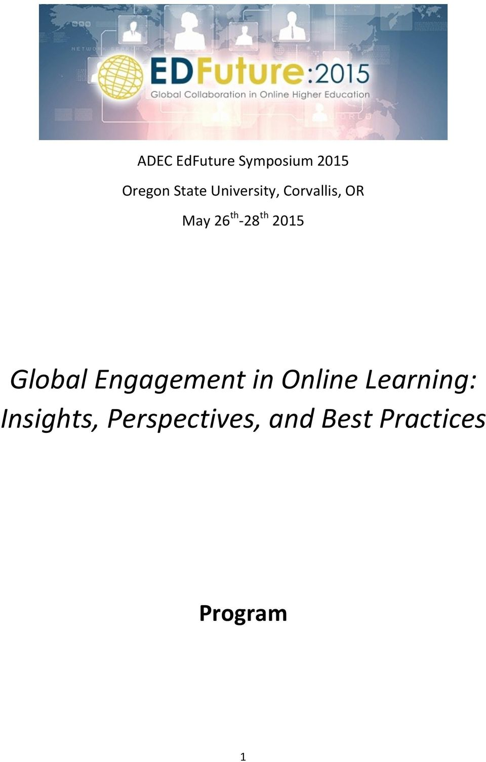 2015 Global Engagement in Online Learning: