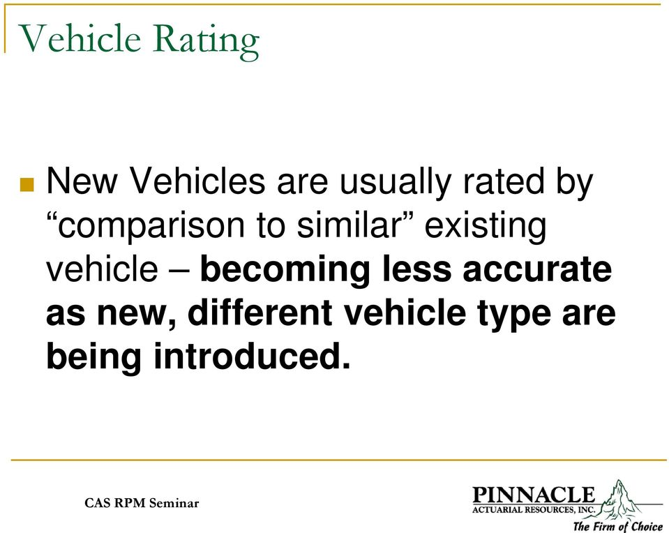 vehicle becoming less accurate as new,