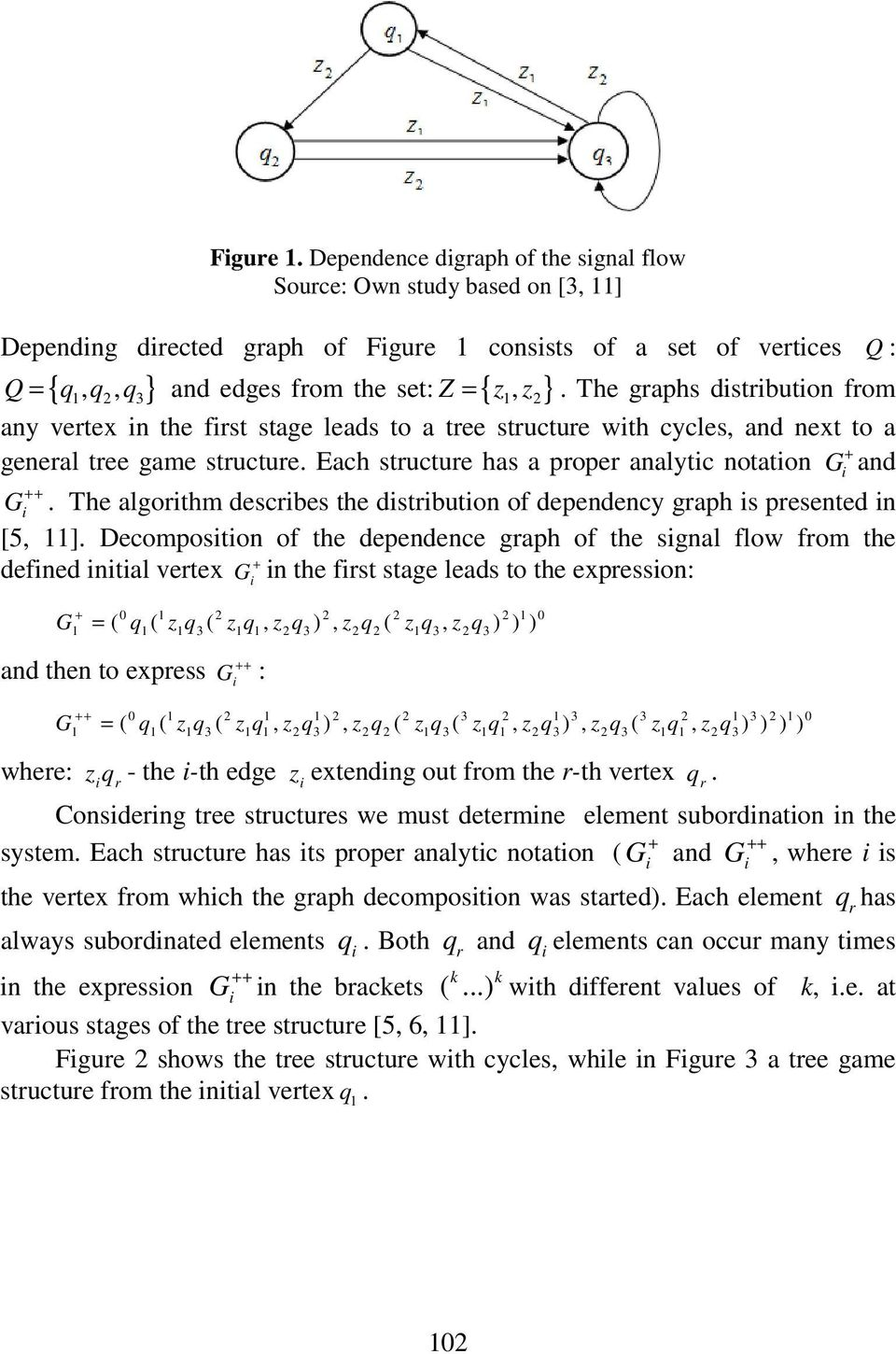 Each structure has a proper analytic notation G + and G ++ i. The algorithm describes the distribution of dependency graph is presented in [5, ].