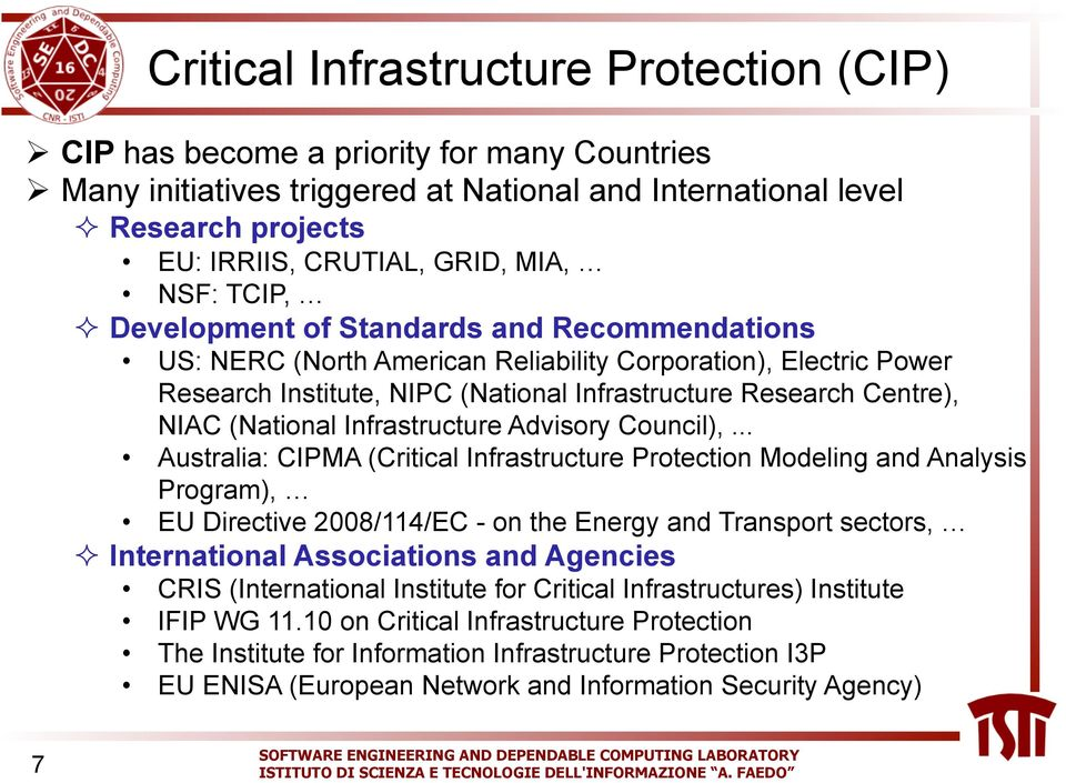 (National Infrastructure Advisory Council),.