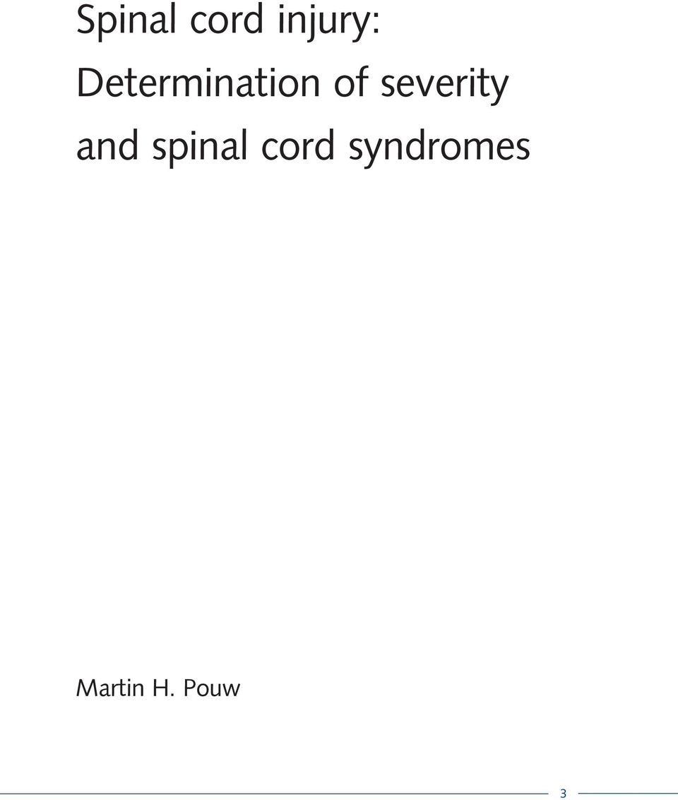 severity and spinal