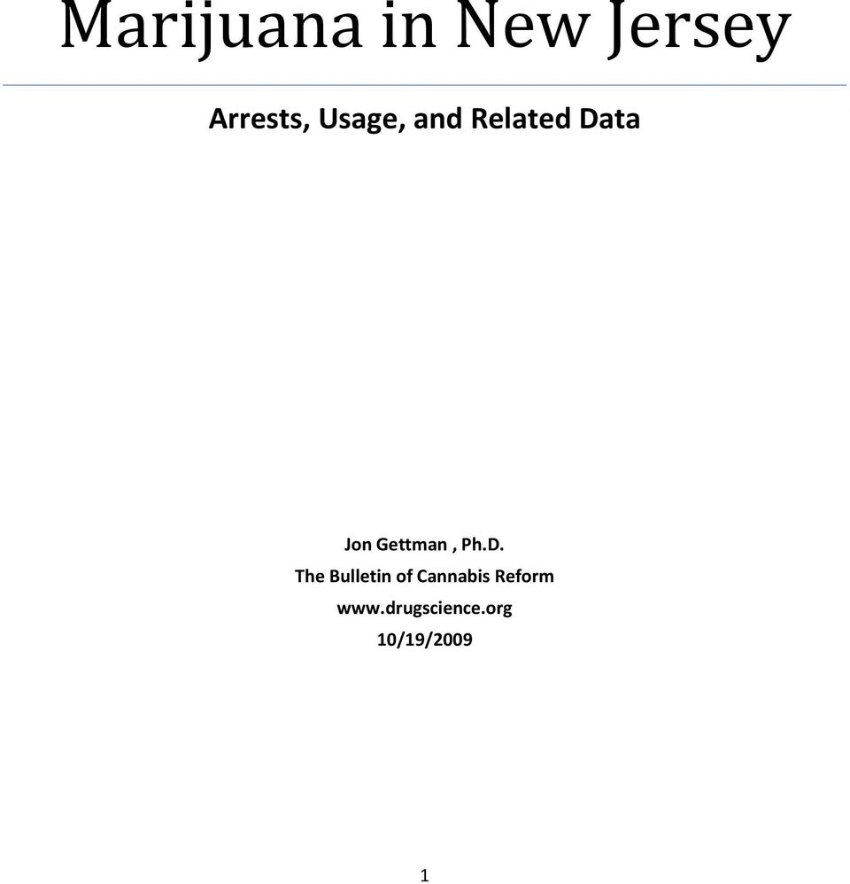 Bulletin of Cannabis Reform