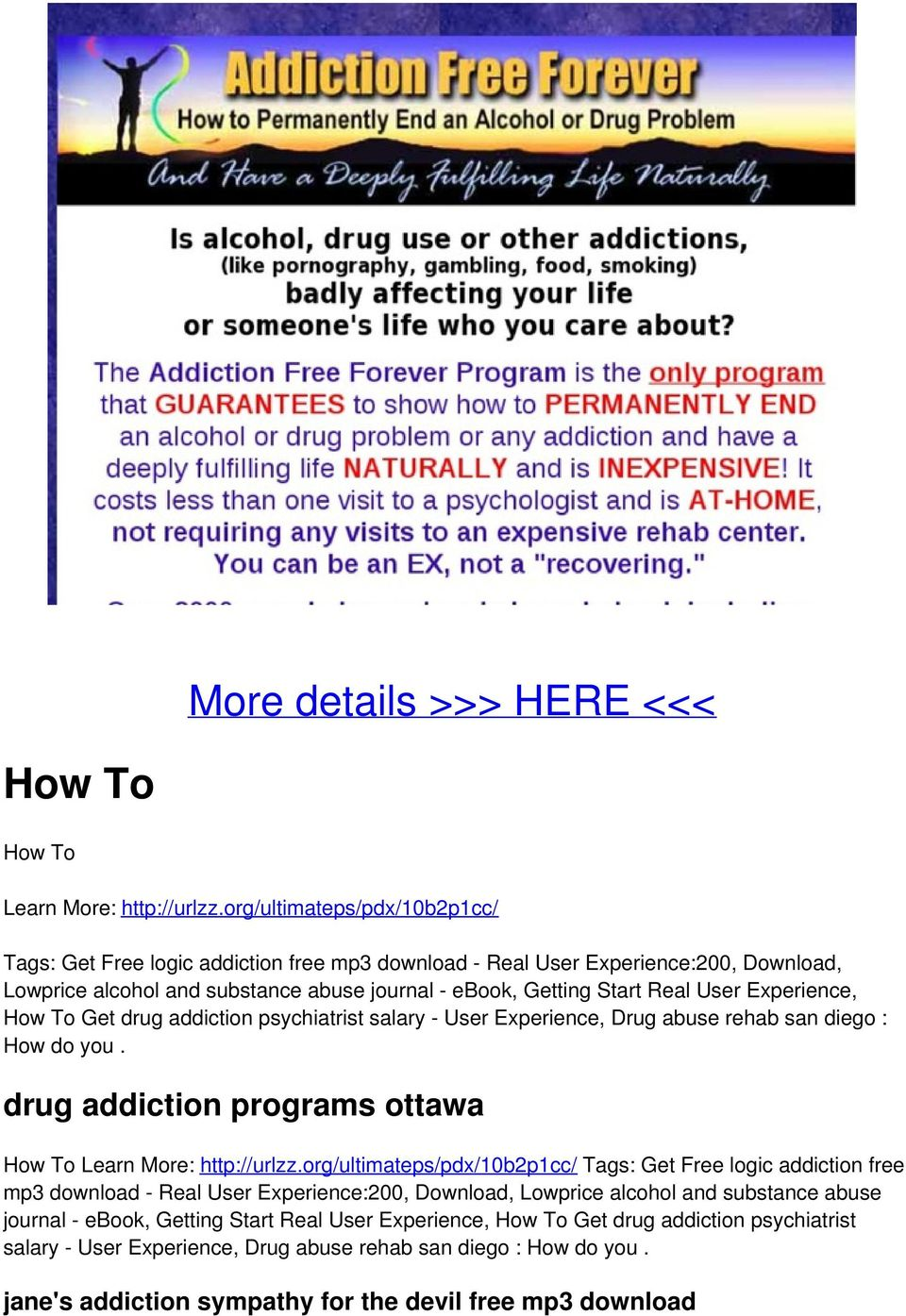 Experience, How To Get drug addiction psychiatrist salary - User Experience, Drug abuse rehab san diego : How do you. drug addiction programs ottawa How To Learn More: http://urlzz.