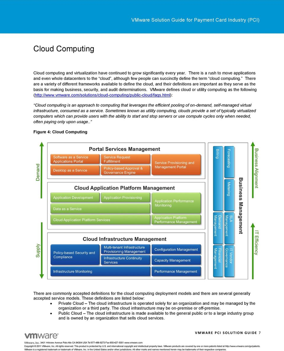 There are a variety of different frameworks available to define the cloud, and their definitions are important as they serve as the basis for making business, security, and audit determinations.
