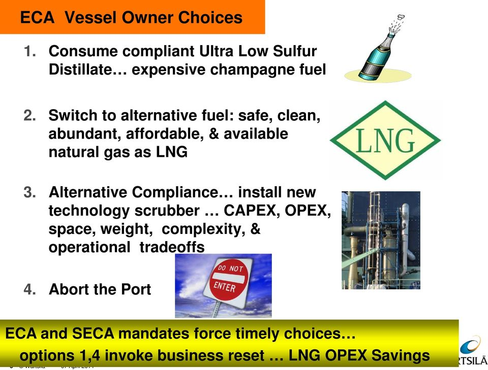Alternative Compliance install new technology scrubber CAPEX, OPEX, space, weight, complexity, & operational