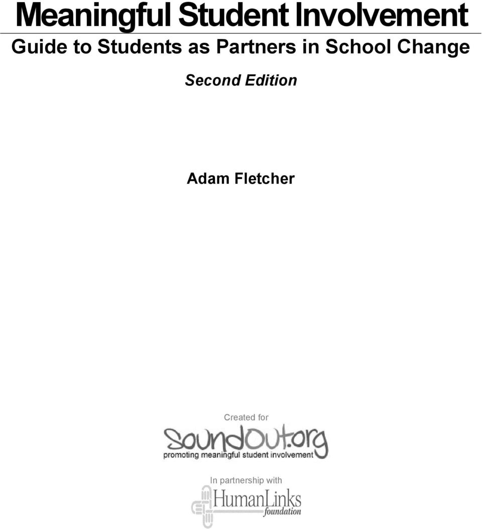 School Change Second Edition Adam