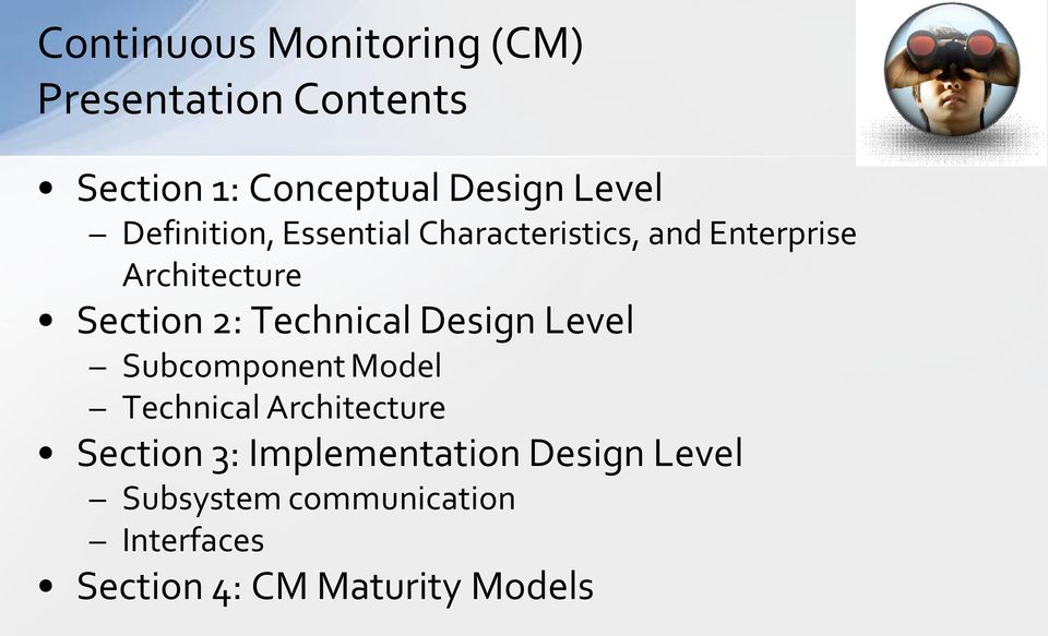 2: Technical Design Level Subcomponent Model Technical Architecture Section 3: