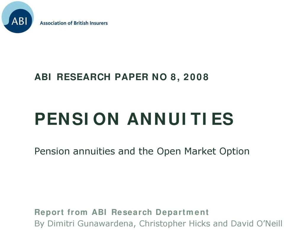 Market Option Report from ABI Research