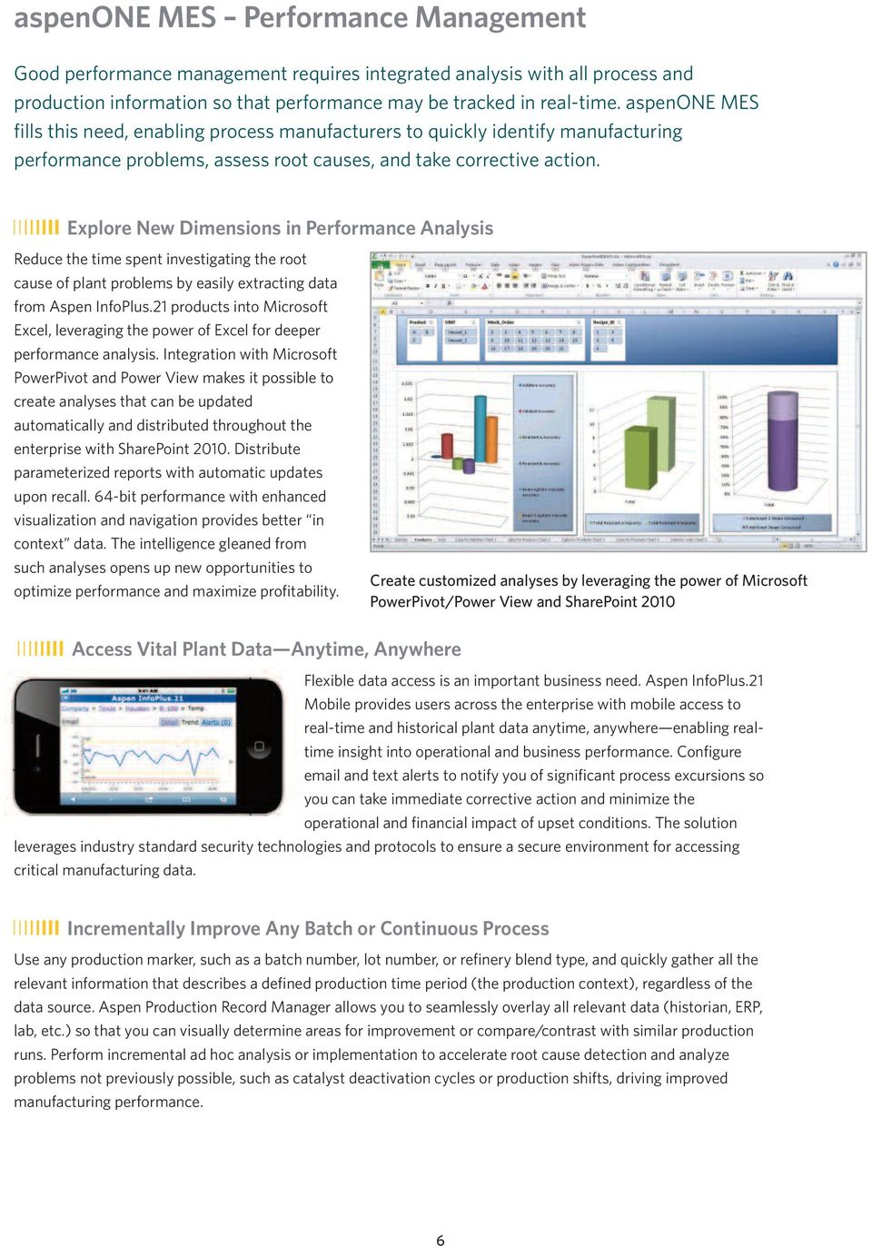 Explore New Dimensions in Performance Analysis Reduce the time spent investigating the root cause of plant problems by easily extracting data from Aspen InfoPlus.