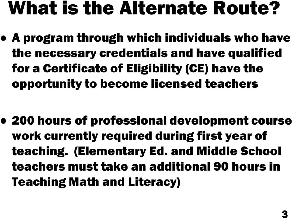 The Alternate Route To Teacher Certification New Pathways To