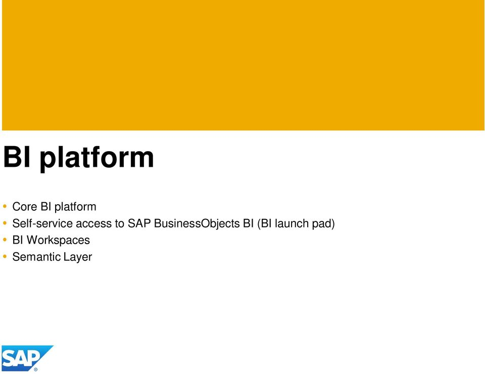 BusinessObjects BI (BI launch