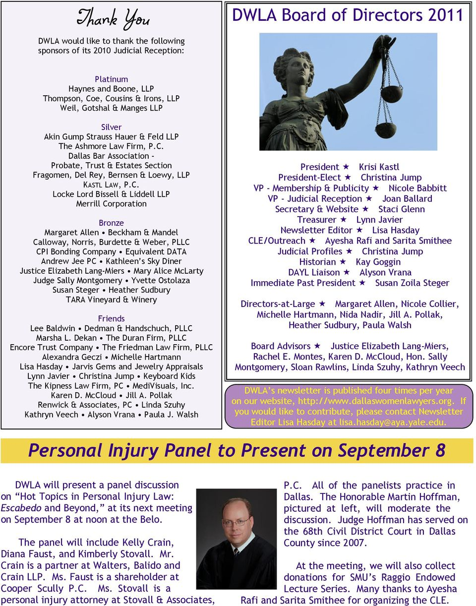 Dallas Bar Association - Probate, Trust & Estates Section Fragomen, Del Rey, Bernsen & Loewy, LLP KASTL LAW, P.C.