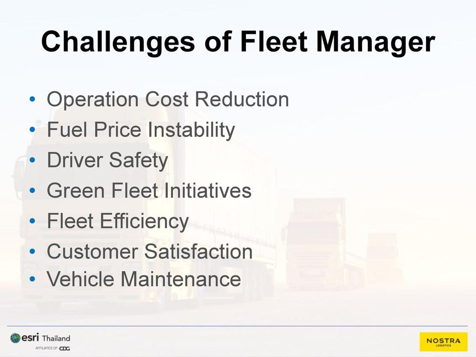 Safety Green Fleet Initiatives Fleet