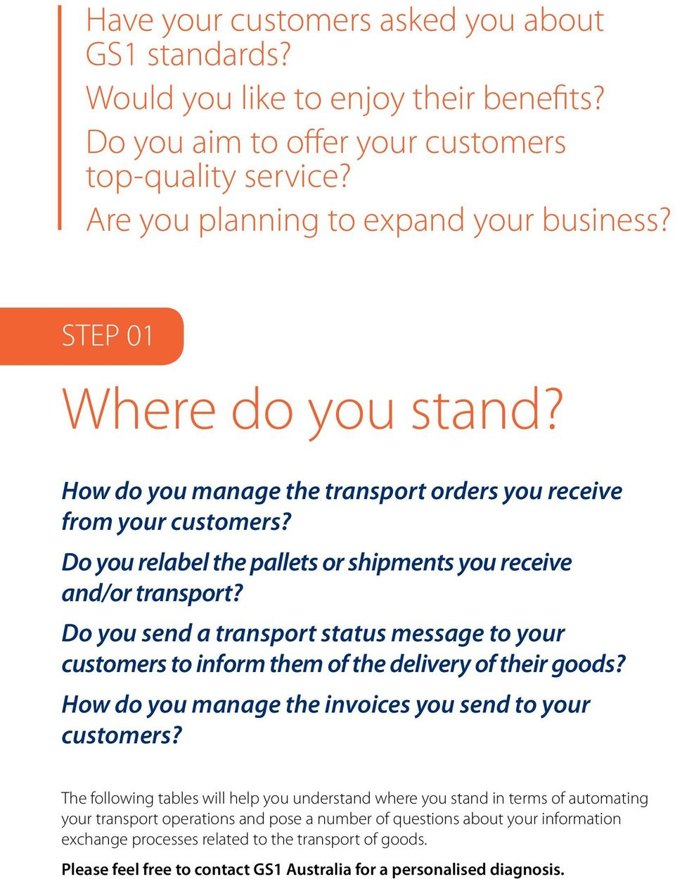 Do you send a transport status message to your customers to inform them of the delivery of their goods? How do you manage the invoices you send to your customers?