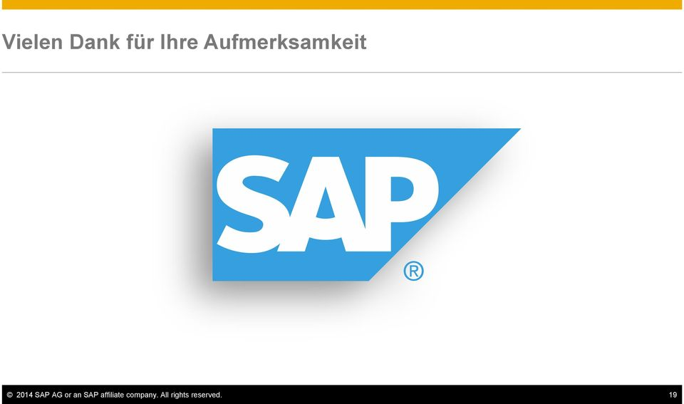 May 2015 2014 SAP AG or an SAP