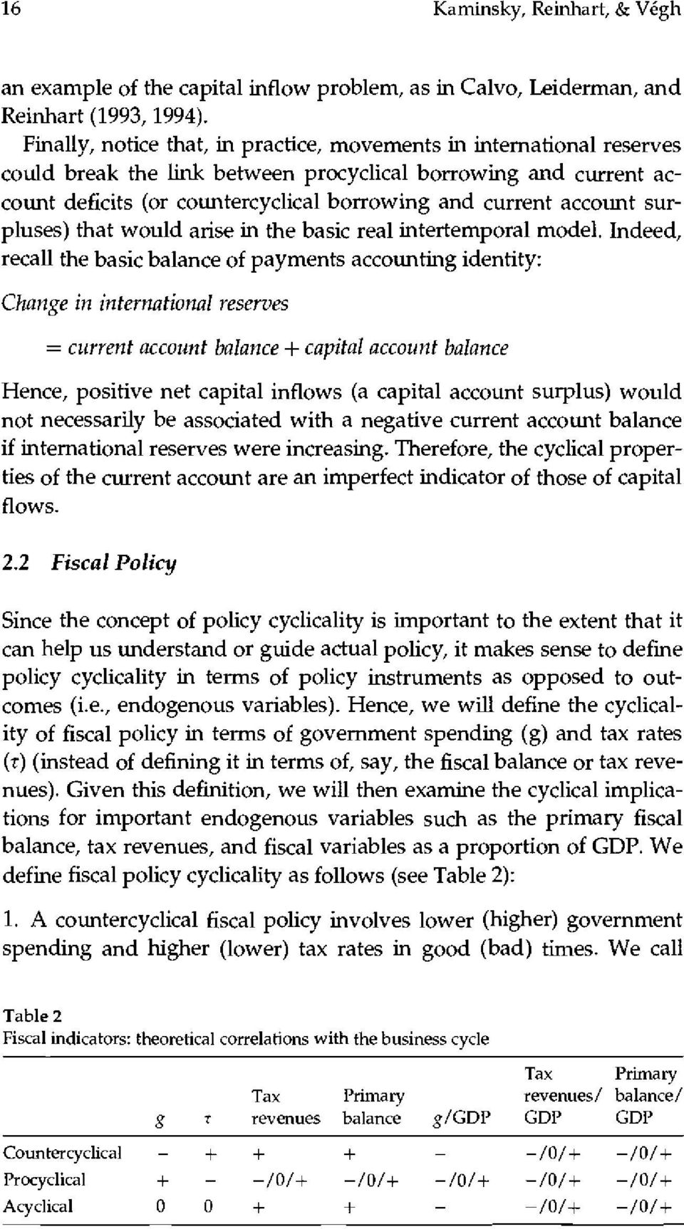 account surpluses) that would arise in the basic real intertemporal model.
