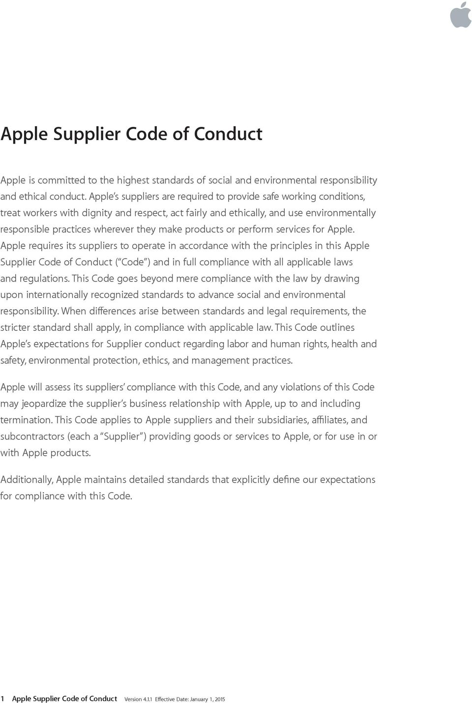 products or perform services for Apple.