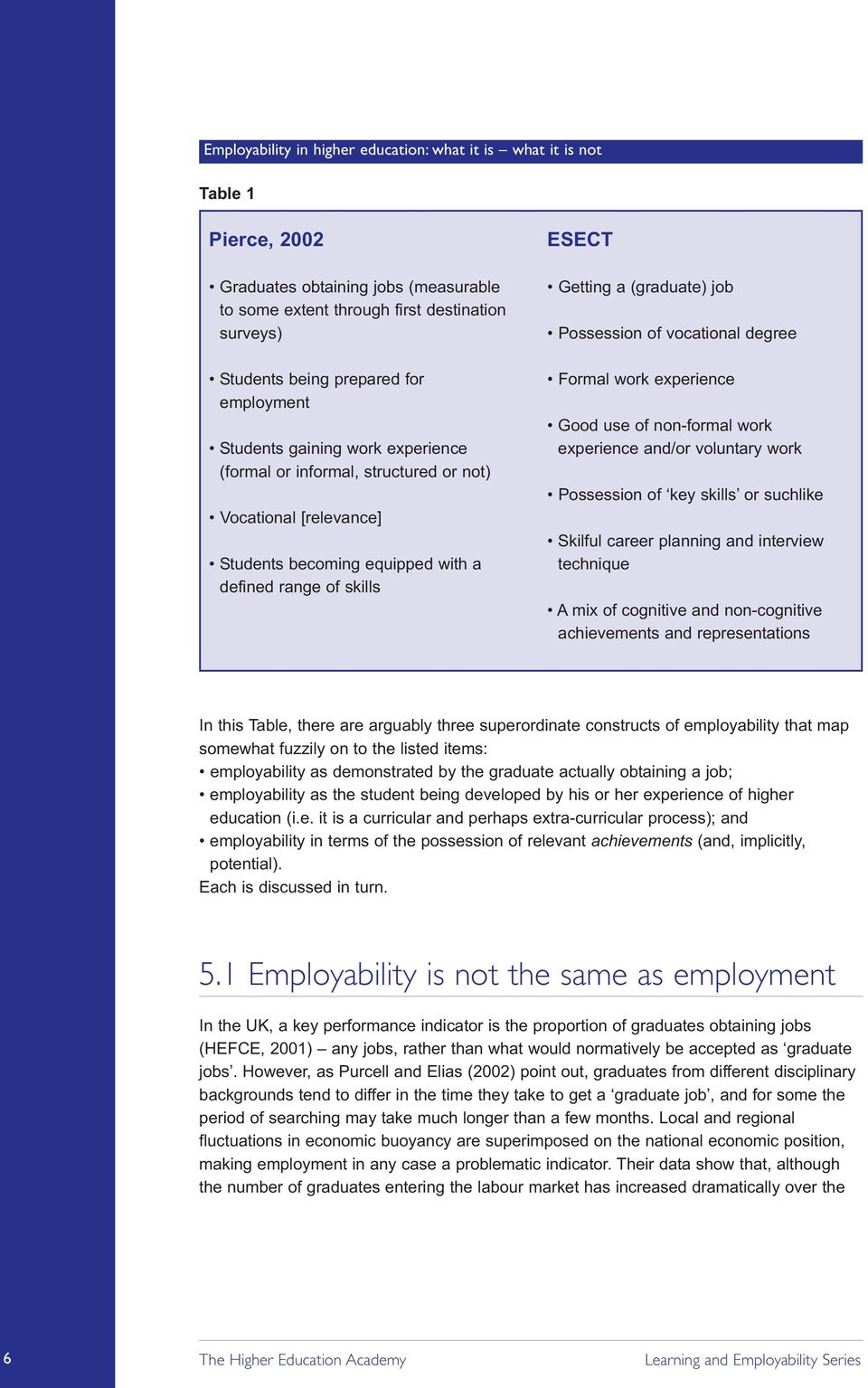 Good use of non-formal work experience and/or voluntary work Possession of key skills or suchlike Skilful career planning and interview technique A mix of cognitive and non-cognitive achievements and