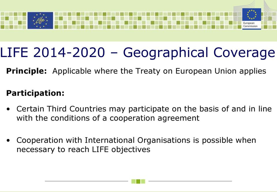 the basis of and in line with the conditions of a cooperation agreement
