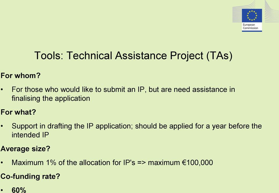 but are need assistance in finalising the application For what?