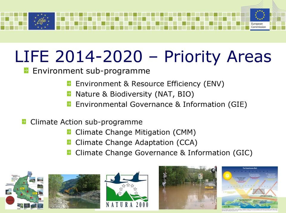 Governance & Information (GIE) Climate Action sub-programme Climate Change
