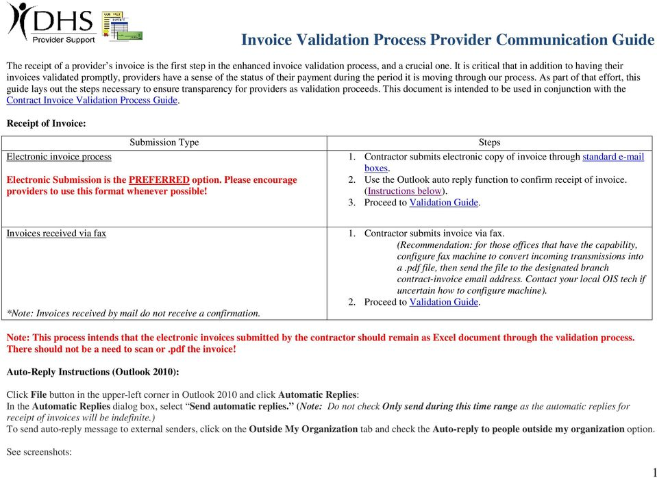 As part of that effort, this guide lays out the steps necessary to ensure transparency for providers as validation proceeds.