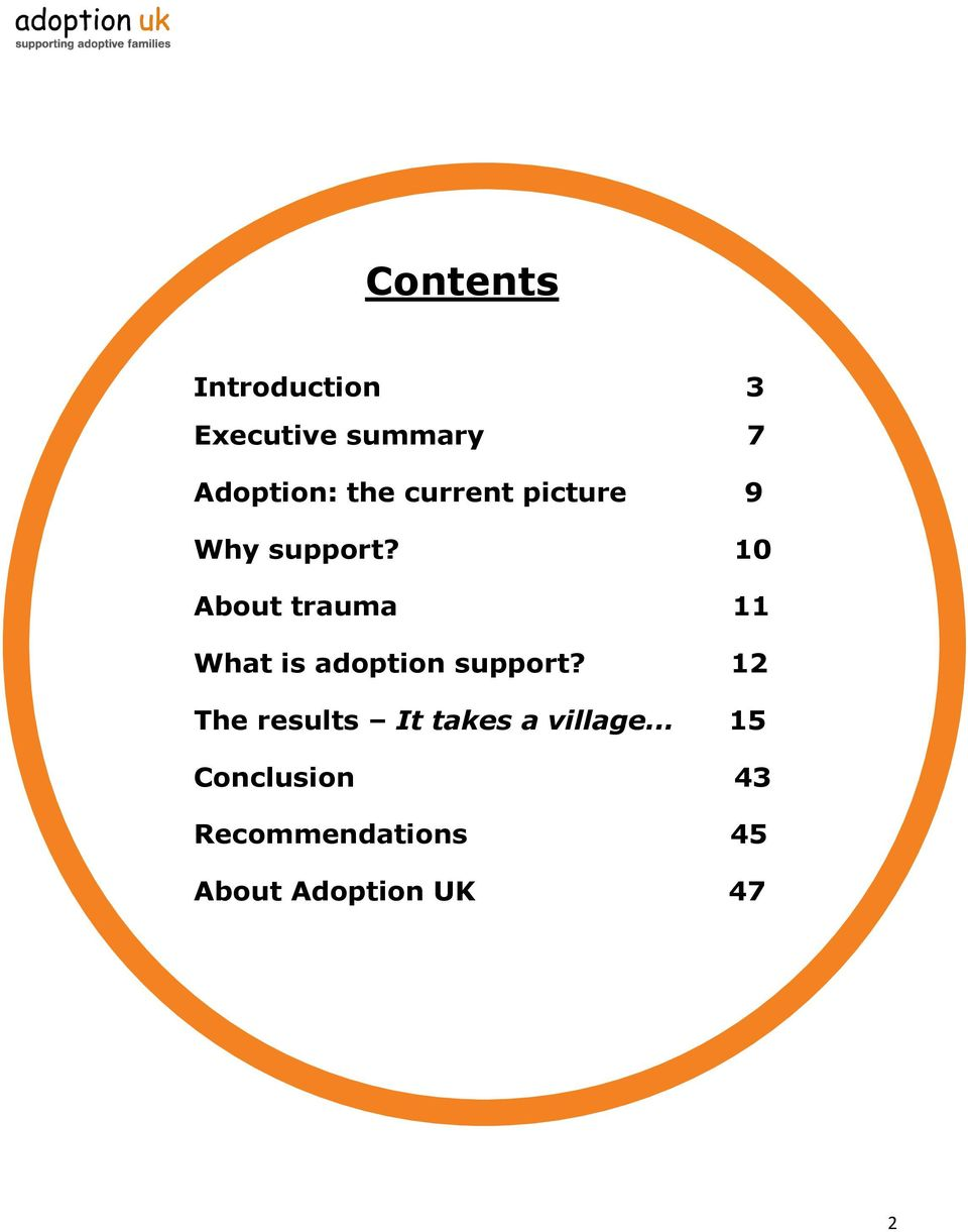 10 About trauma 11 What is adoption support?