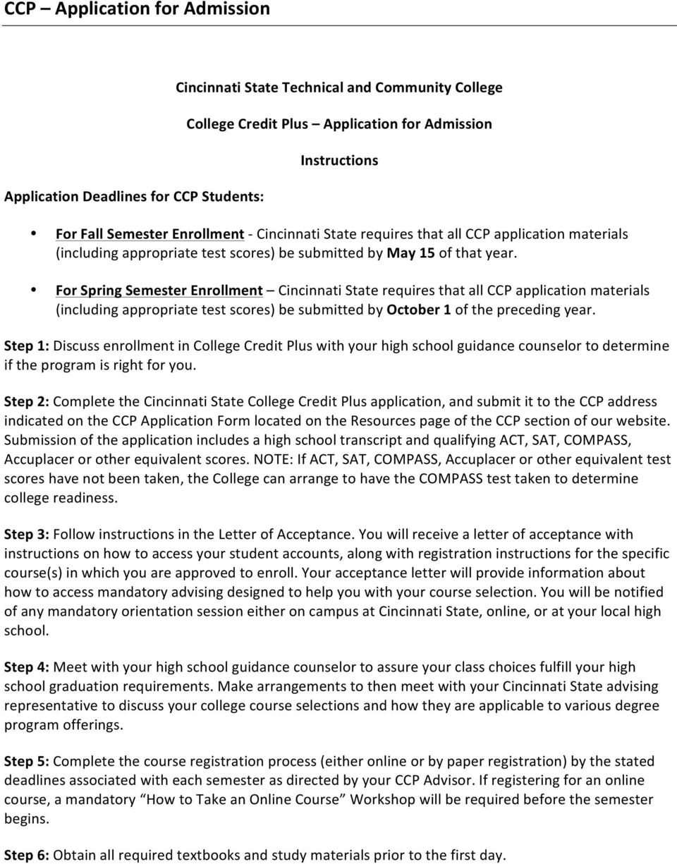 College Credit Plus A GUIDE FOR STUDENTS - PDF