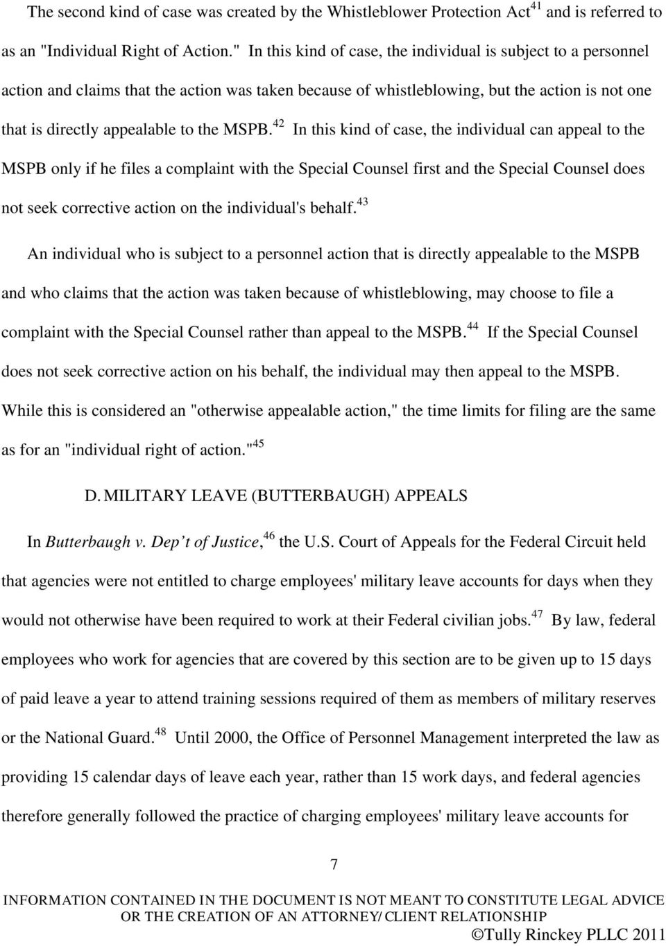 MSPB 42 In This Kind Of Case The Individual Can Appeal To