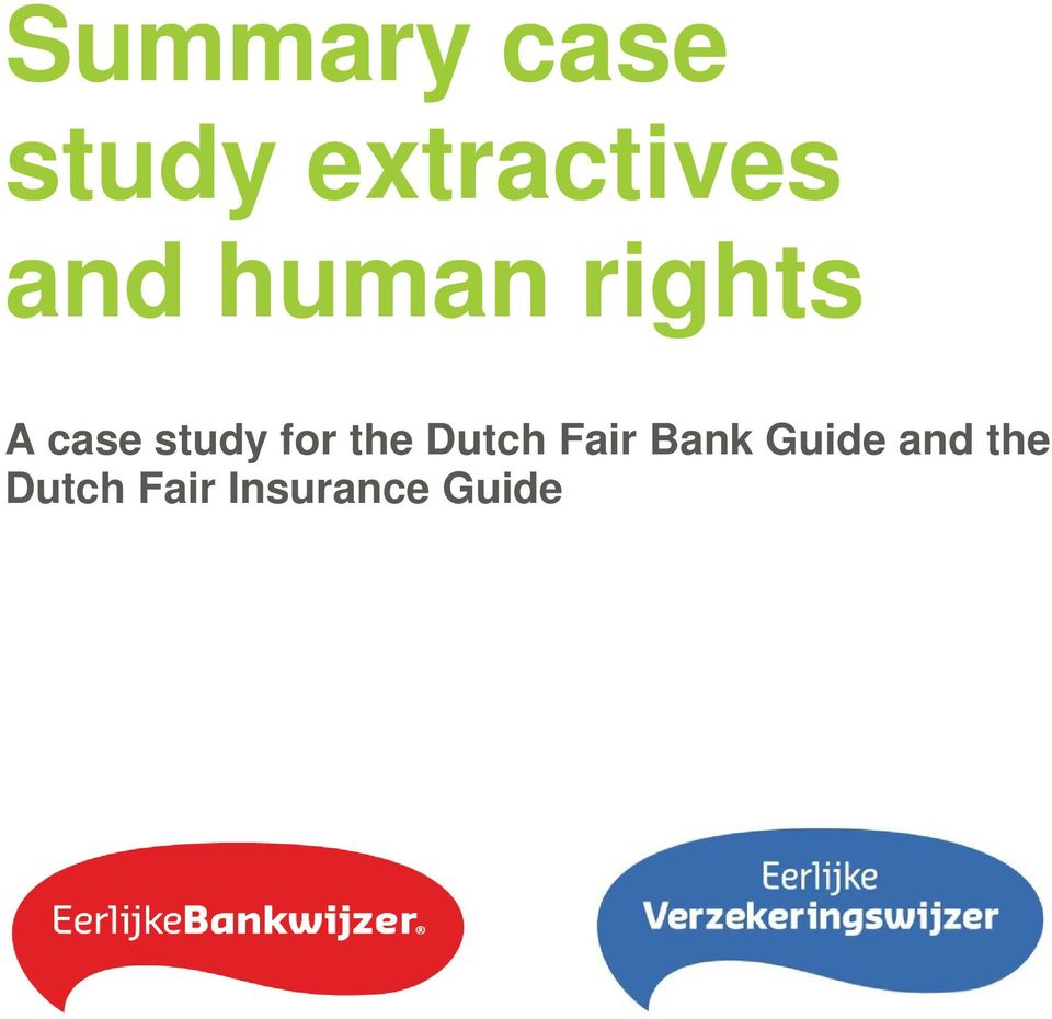 for the Dutch Fair Bank Guide