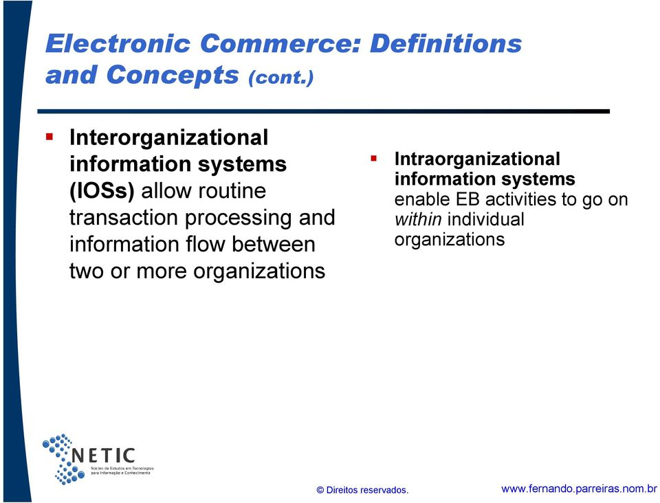 transaction processing and information flow between two or more