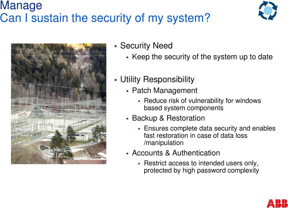 risk of vulnerability for windows based system components Backup & Restoration Ensures complete data