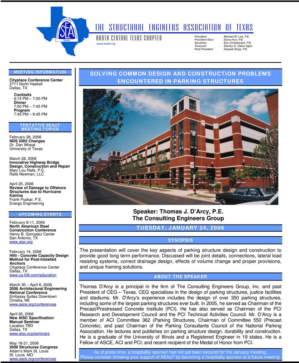 Dan Wheat University of Texas March 28, 2006 Innovative Highway Bridge Design, Construction and Repair Mary Lou Ralls, P.E.