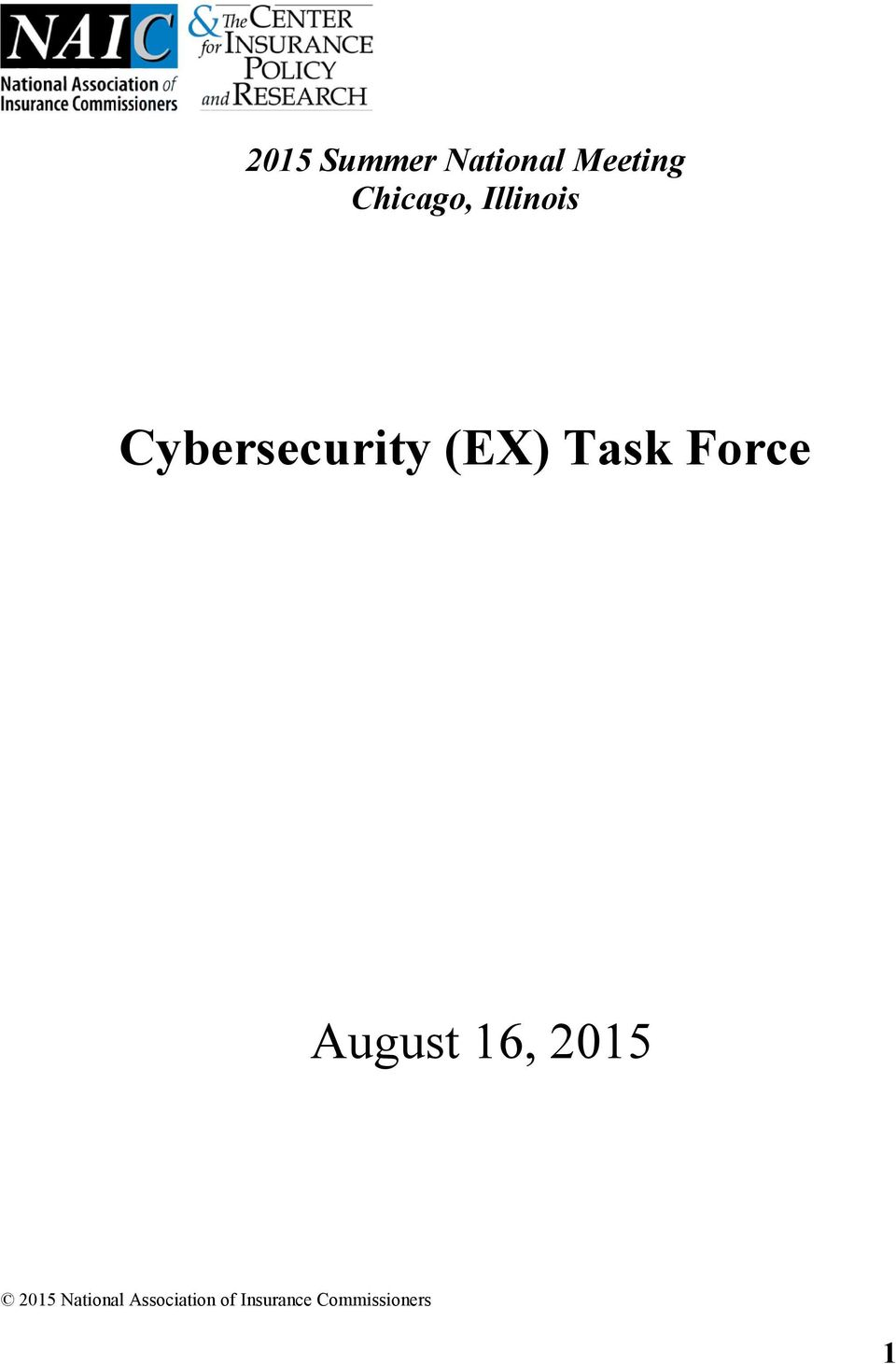 Task Force August 16, 2015 2015