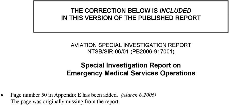 Investigation Report on Emergency Medical Services Operations Page number 50 in
