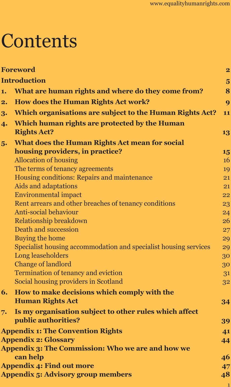 What does the Human Rights Act mean for social housing providers, in practice?