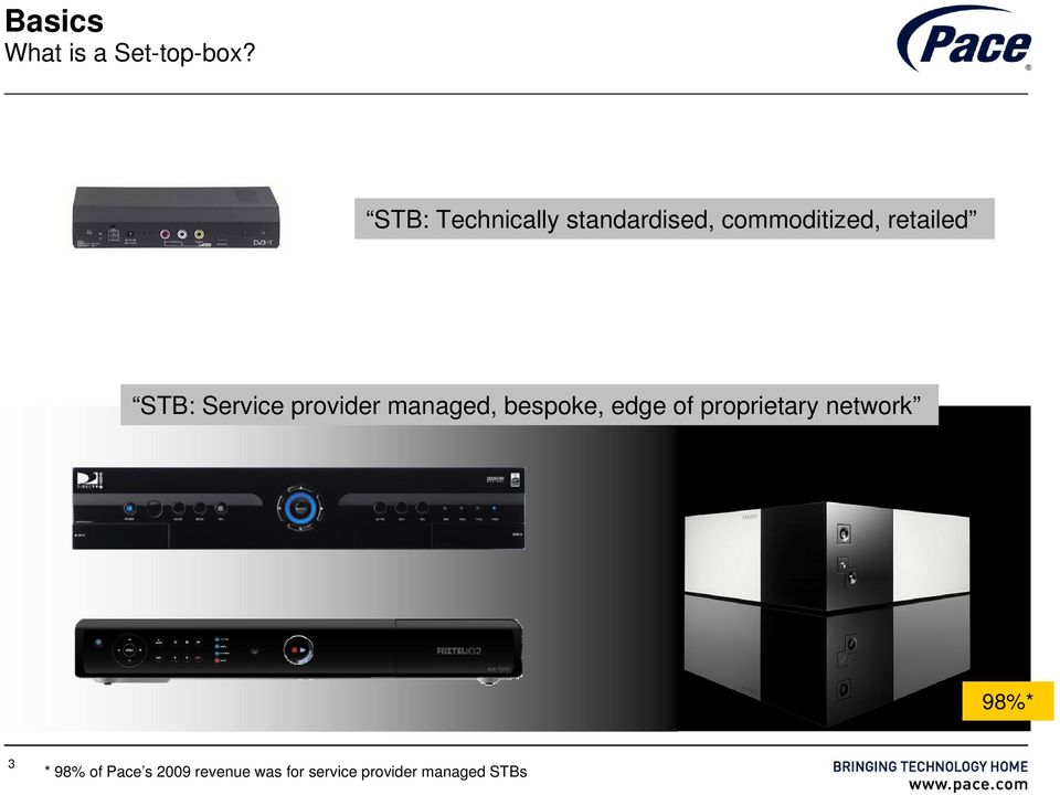 STB: Service provider managed, bespoke, edge of
