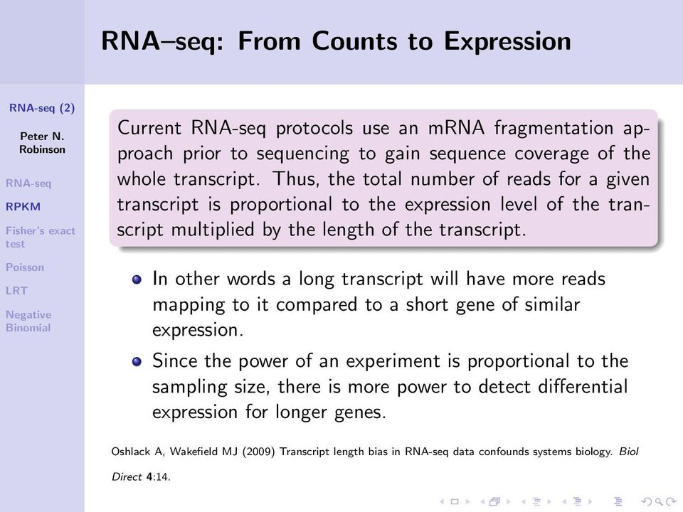 In other words a long transcript will have more reads mapping to it compared to a short gene of similar expression.