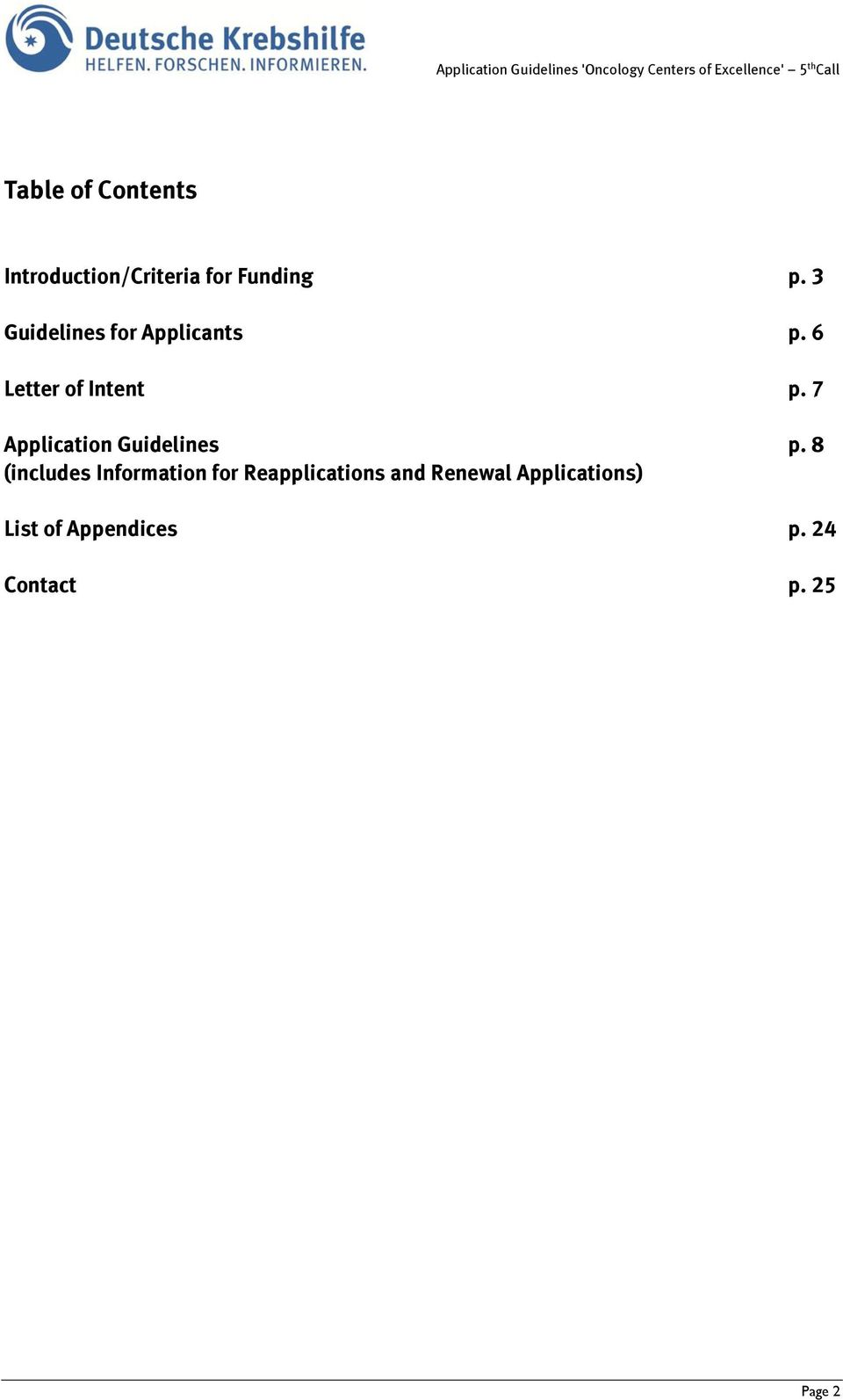 7 Application Guidelines p.