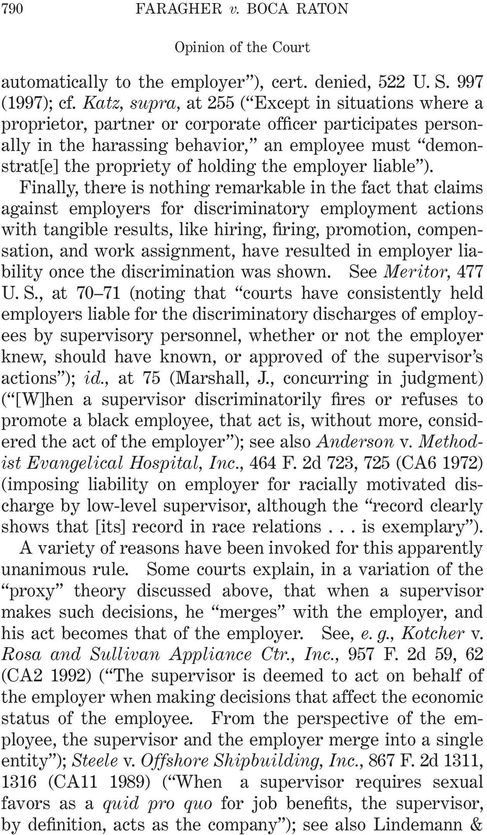 the employer liable ).