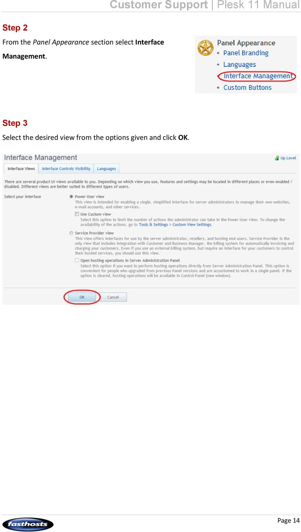 Customer Support Plesk 11 Manual Step 3