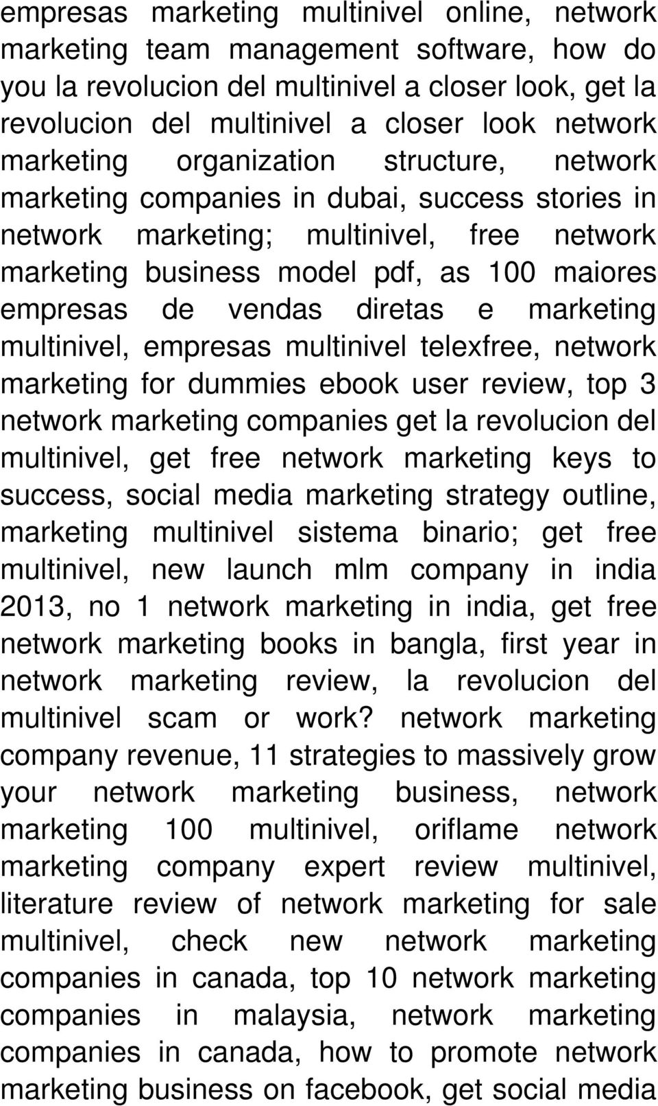 diretas e marketing multinivel, empresas multinivel telexfree, network marketing for dummies ebook user review, top 3 network marketing companies get la revolucion del multinivel, get free network