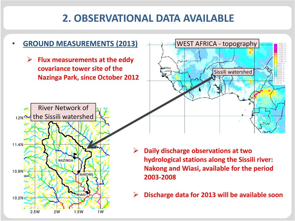 Sissili watershed durch Klicken 6/6/2014 4 Sissili watershed Daily discharge observations at two hydrological
